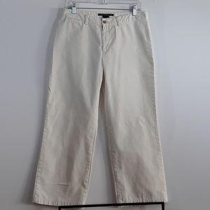Ralph Lauren Sport Cropped White Khaki Pants